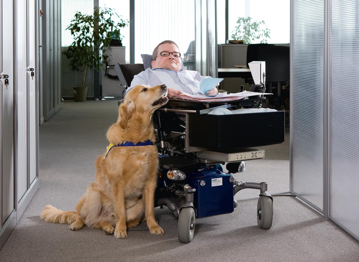 Foto Kristoff, collega met een handicap