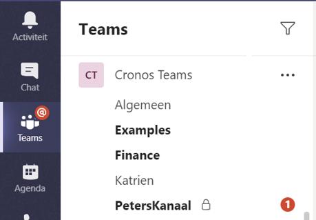 Getagd in een kanaal in Teams