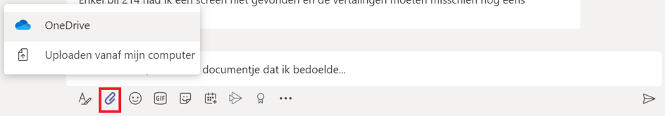Bestand delen in chat