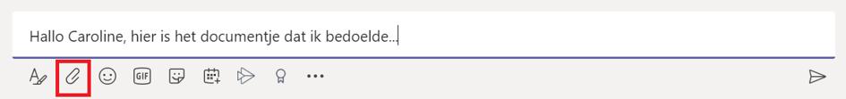 Bestanden delen in een chat