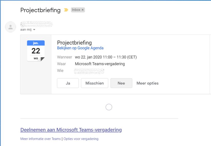 Deelnemen aan Microsoft Teams vergadering