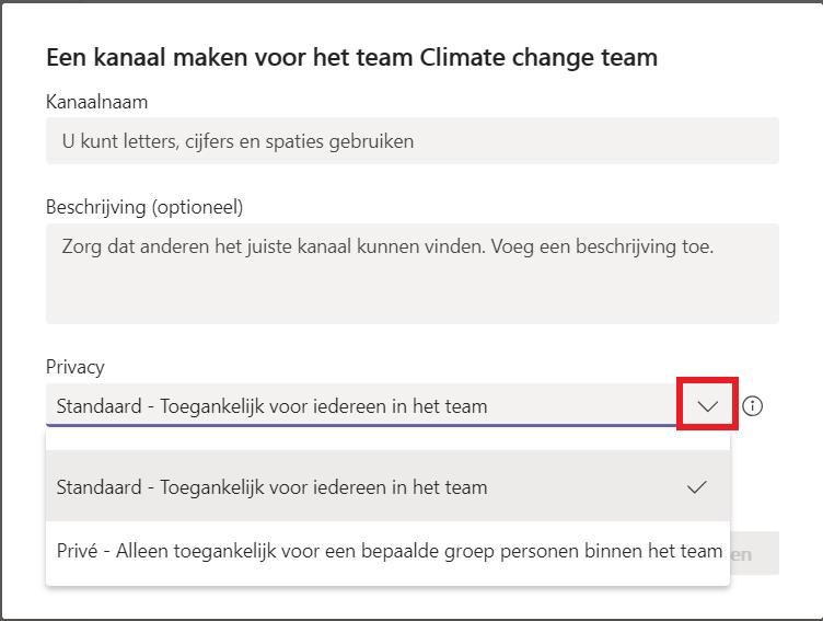 Hoe maak je in een team kanalen aan om je gesprekken per onderwerp te groeperen