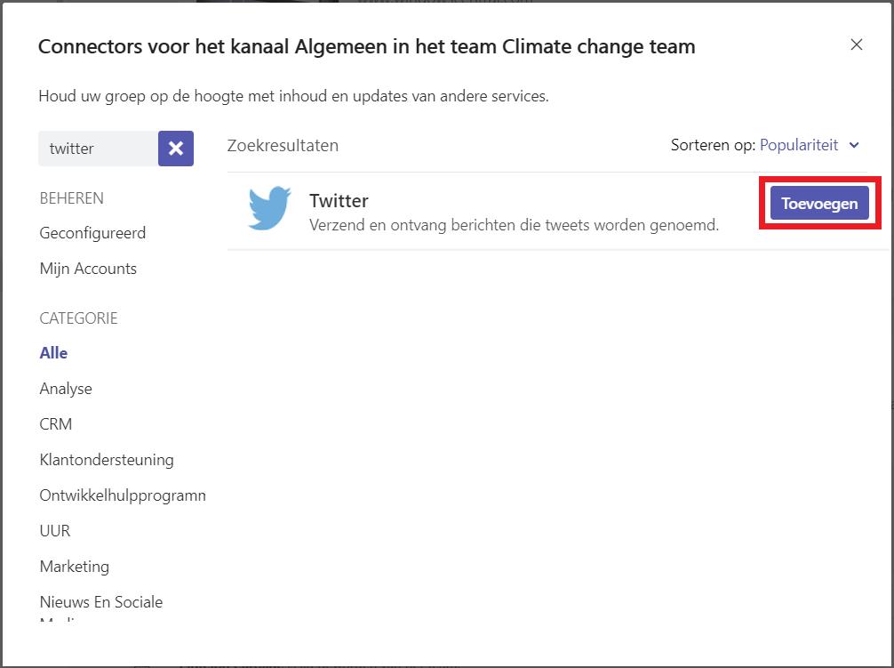 Hoe ontvang je Twitter updates in een kanaal