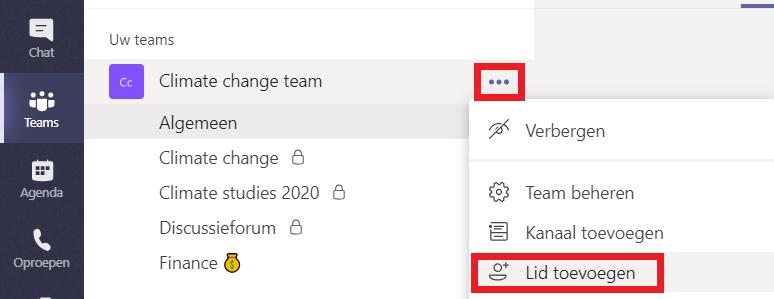 Hoe voeg je leden toe aan een team