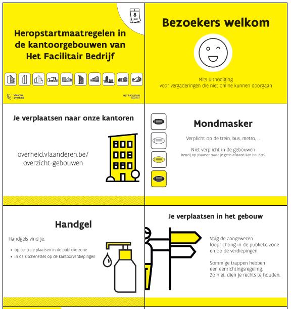 Maatregelen voor bezoekers
