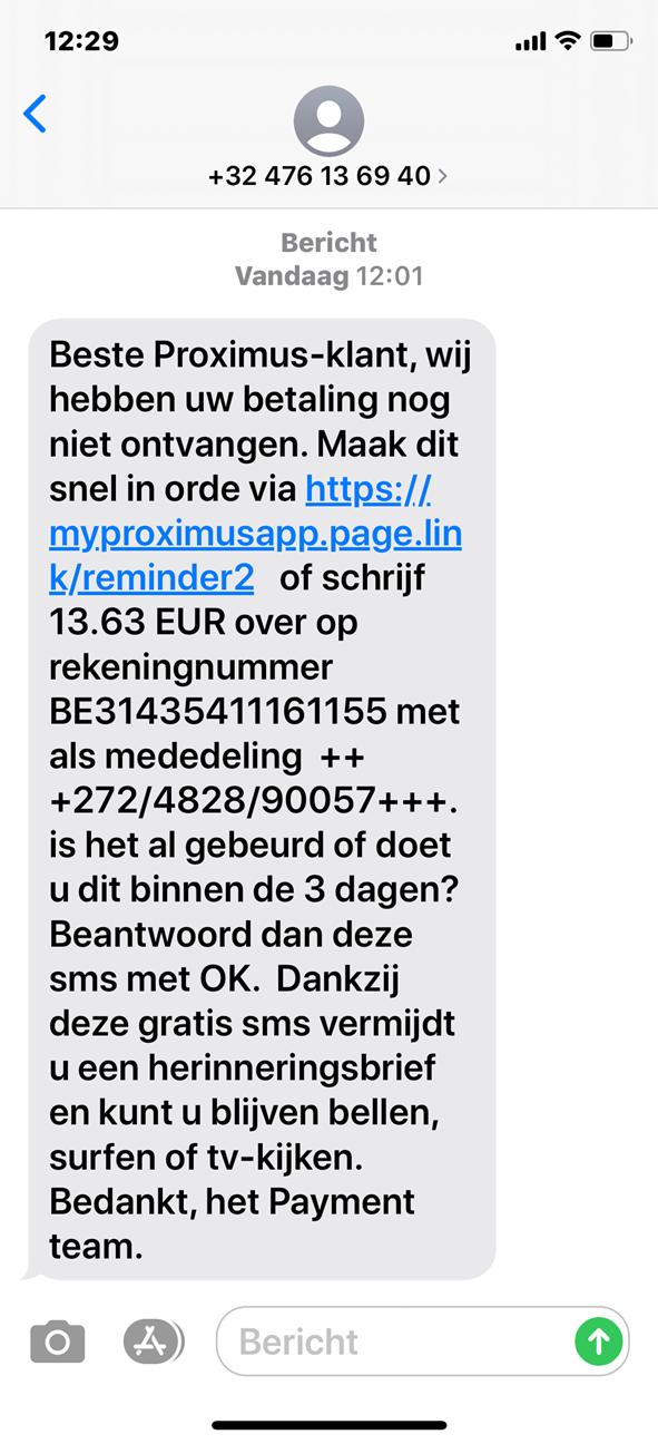 Correct sms-bericht