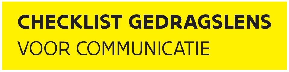 logo checklist gedragslens voor communicatie