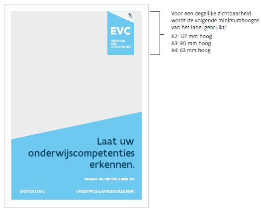 voorbeeld label in print staand met trapezium