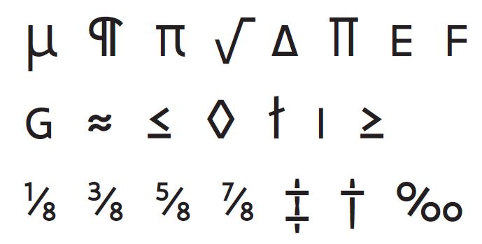 voorbeeld nieuwe tekens lettertype