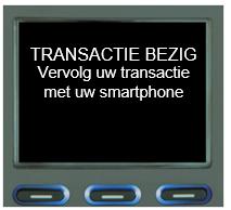 Screenshot transactie betaalterminal