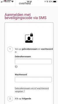 Aanmelden met beveiligingscode via sms