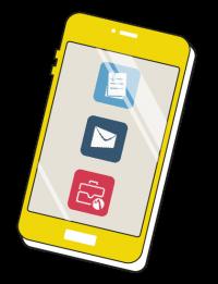Smartphone met apps