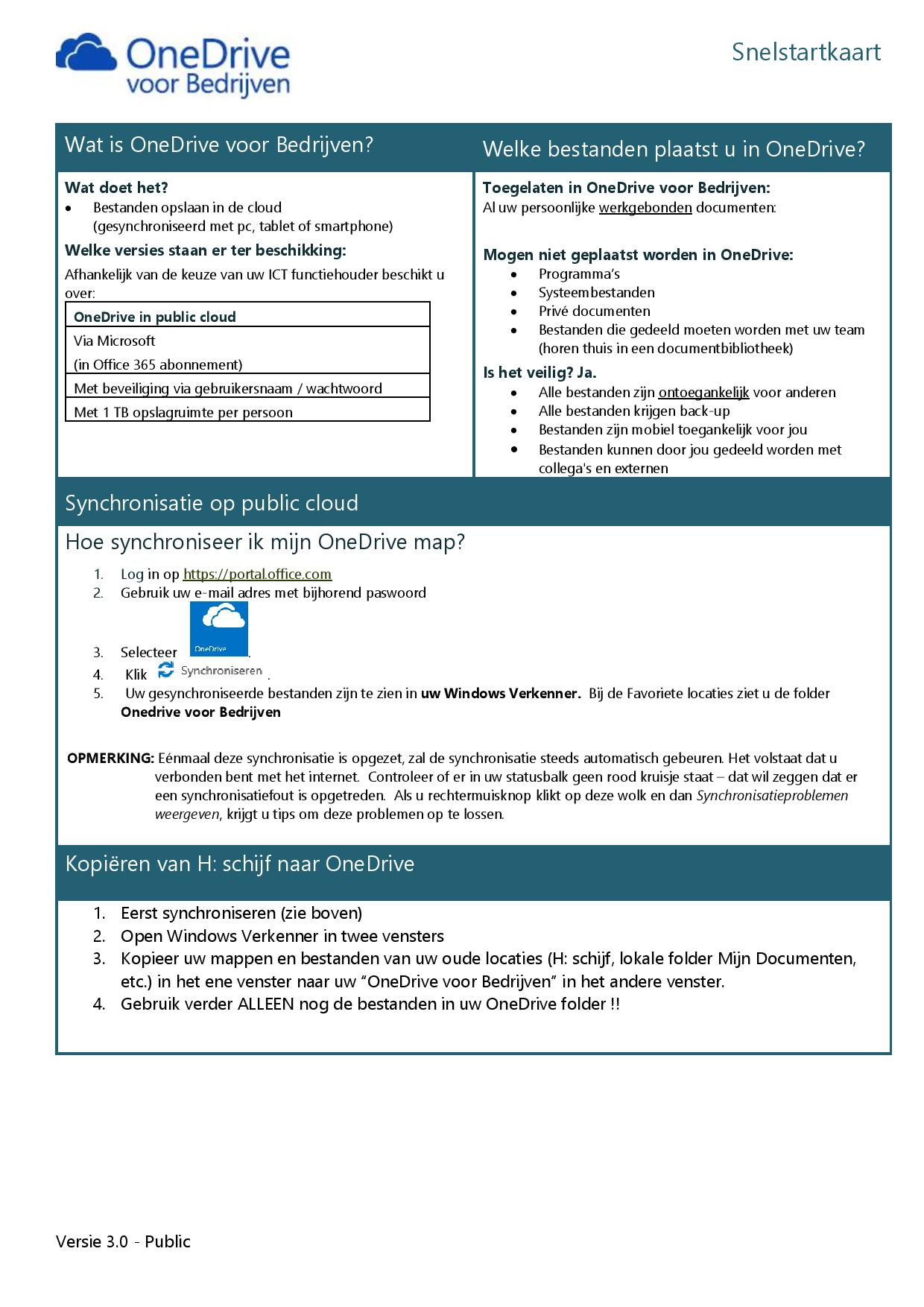 Snelstartkaart OneDrive Public - 1
