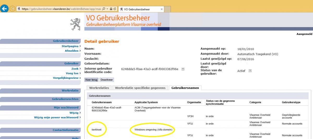 screenshot vo gebruikersbeheer