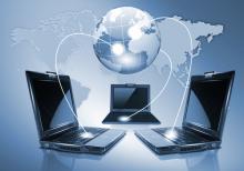 computers verbonden met elkaar en de wereld