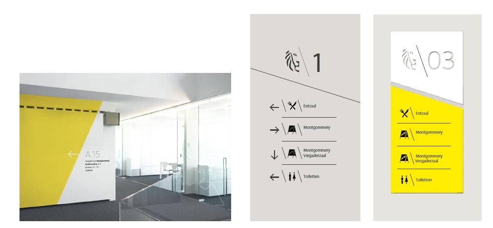 voorbeeld signalisatie binnen gebouw niveau 1