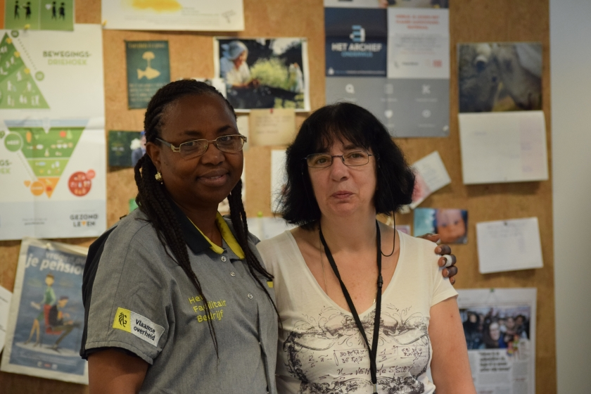 Marianne Huybrechts en Odette Mola-Sekua