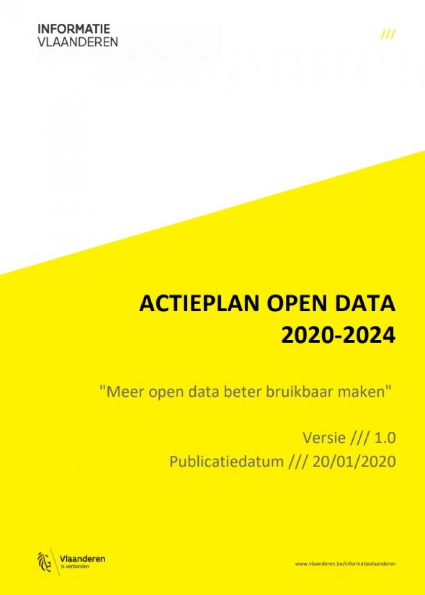 """voorpagina van """"het actieplan open data 2020-2024"""""""