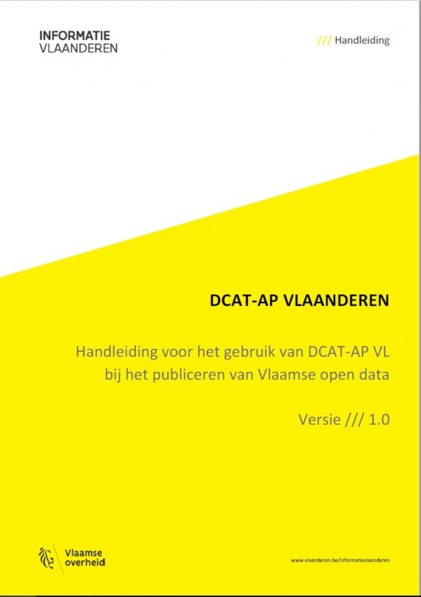 """titelpagina """"Handleiding-DCAT-AP-Vlaanderen"""""""