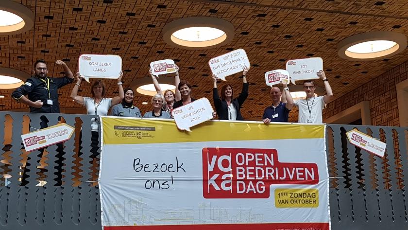 Open Bedrijvendag - wij doen mee - foto team uitbating Herman Teirlinckgebouw