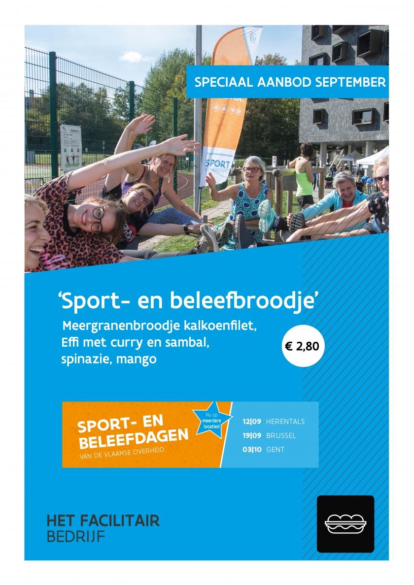 Affiche Sport- en Beleefbroodje
