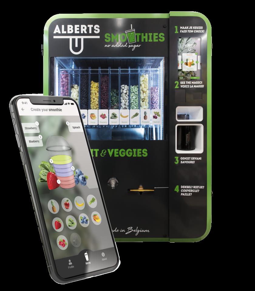 Alberts App en Smoothie automaat