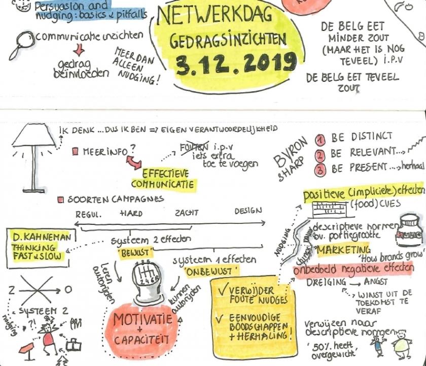 Detail uit de visuele oogst van het voormiddaggedeelte door Tania Jannis (Audit Vlaanderen)