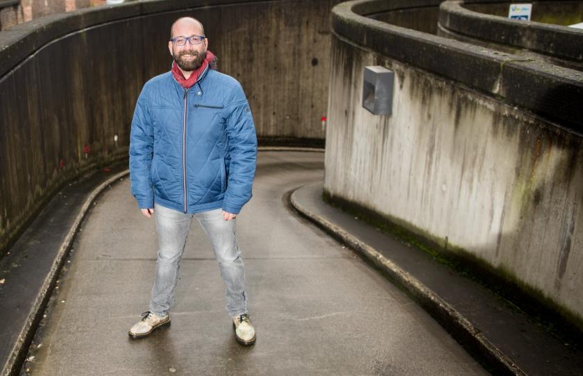 Wim Vandebeek wil het stigma rond hiv wegnemen (foto: ID/Lieven Van Assche)