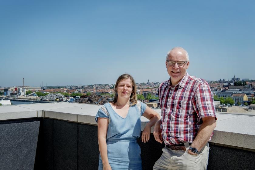 Irina De Landtsheer en Maurice Hoffmann van het INBO