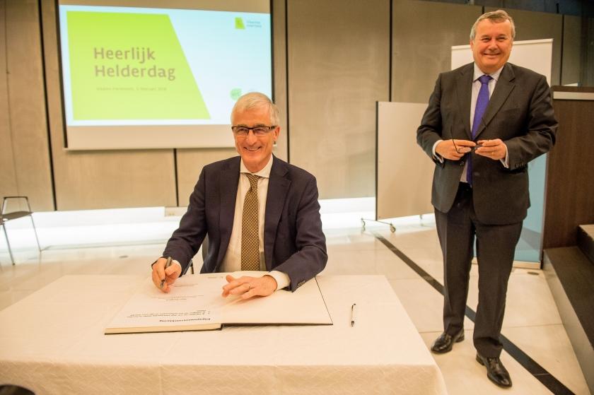 Geert Bourgeois en Paul Lembrechts verklaren hun engagement voor Heerlijk Helder