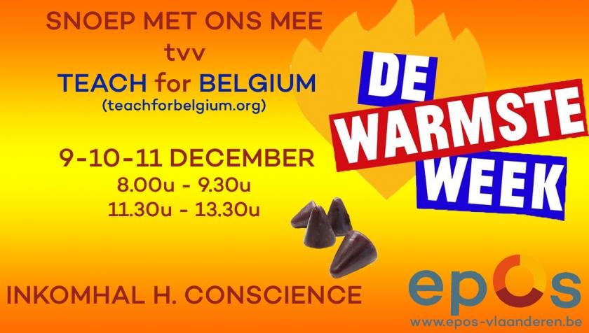 Affiche snoepverkoop Epos Vlaanderen