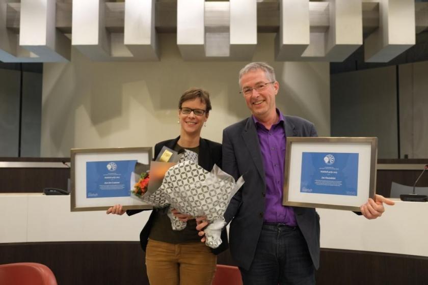 Ann De Craemer en Jan Hautekiet ontvangen de Wablieftprijs 2015