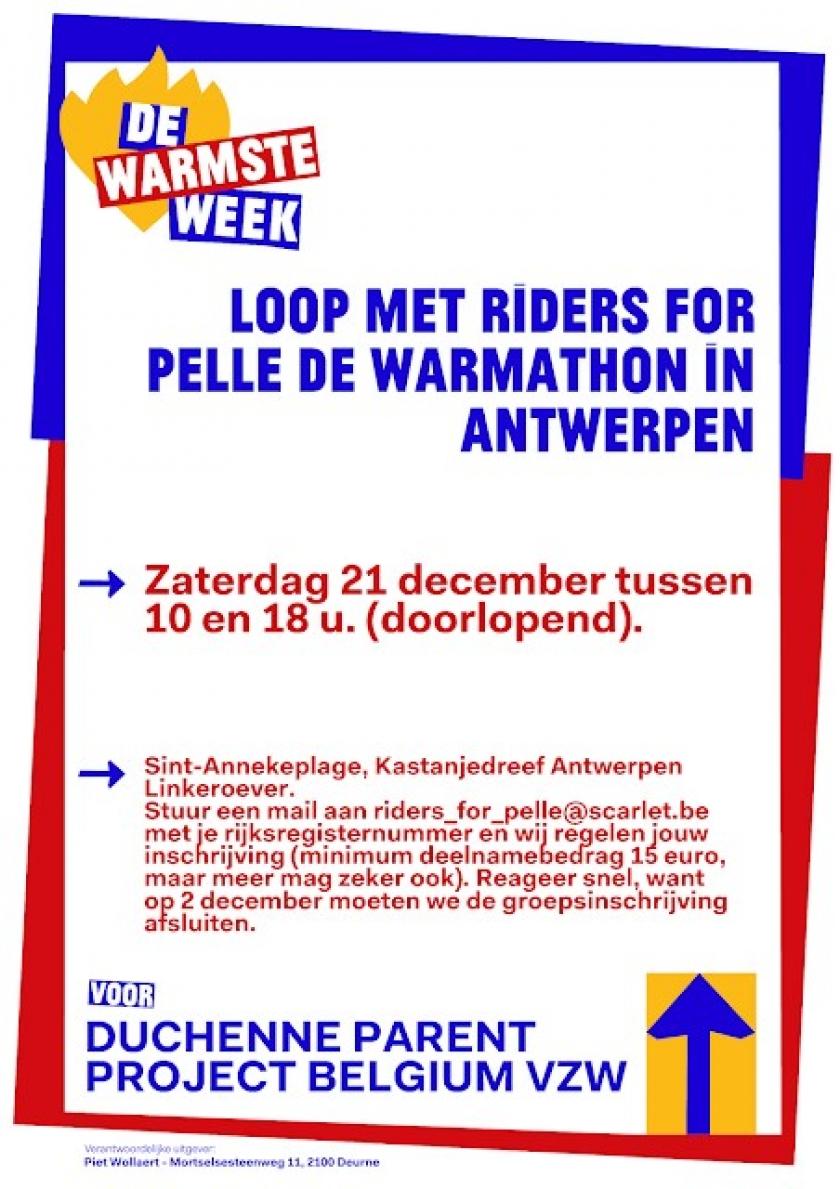 Affiche Warmathon ten voordele van Riders for Pelle