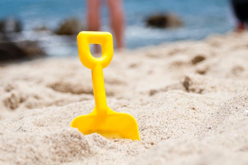 schopje in zand