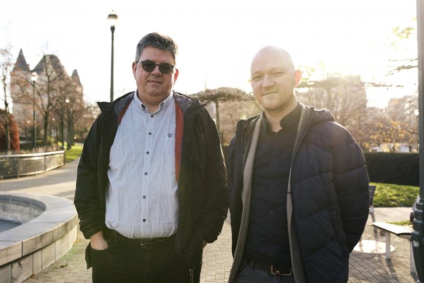 Leo Van Loo en Björn De Vidts (Foto: Joris Casaer)