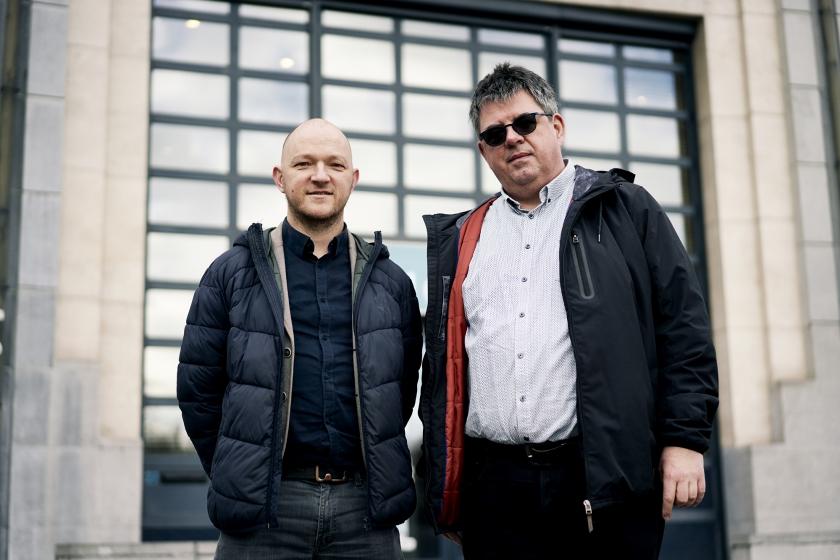 Björn De Vidts en Leo Van Loo (Foto: Joris Casaer)