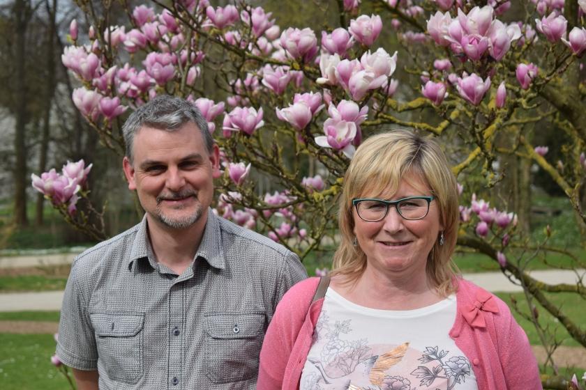 Koen Es en Chris Kosolosky van de Plantentuin Meise