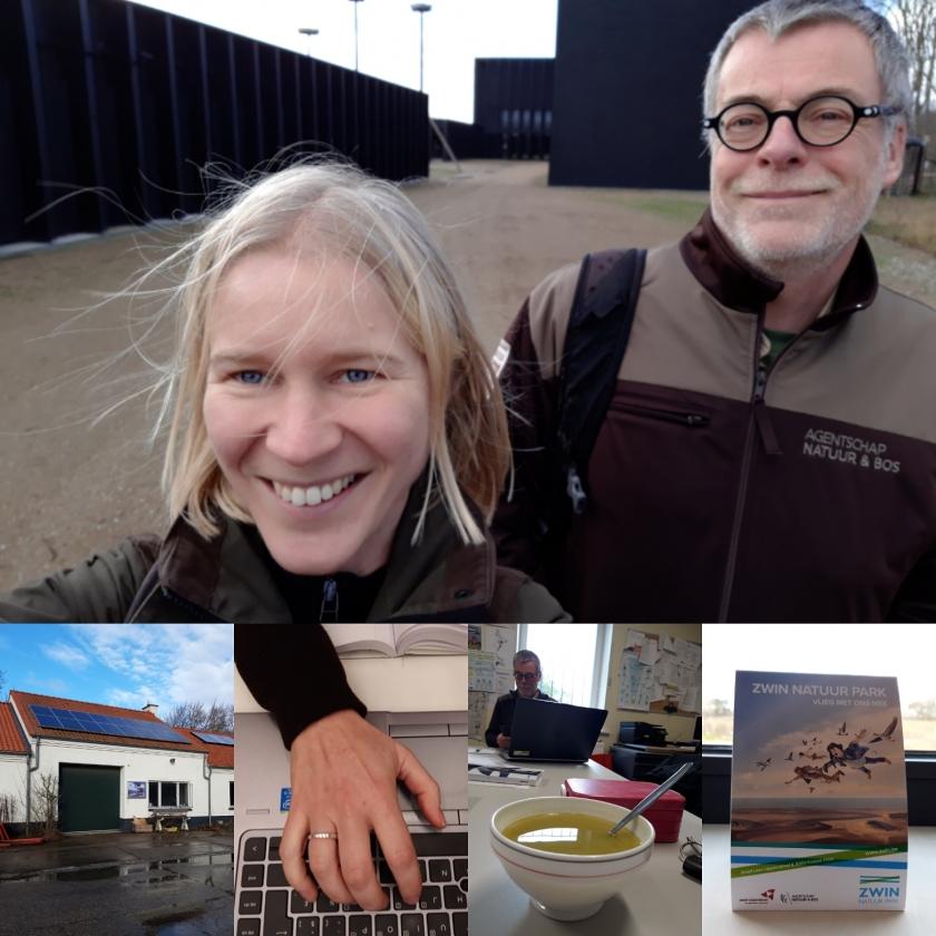 Hannah Van Nieuwenhuyse en Koen Marechal van ANB