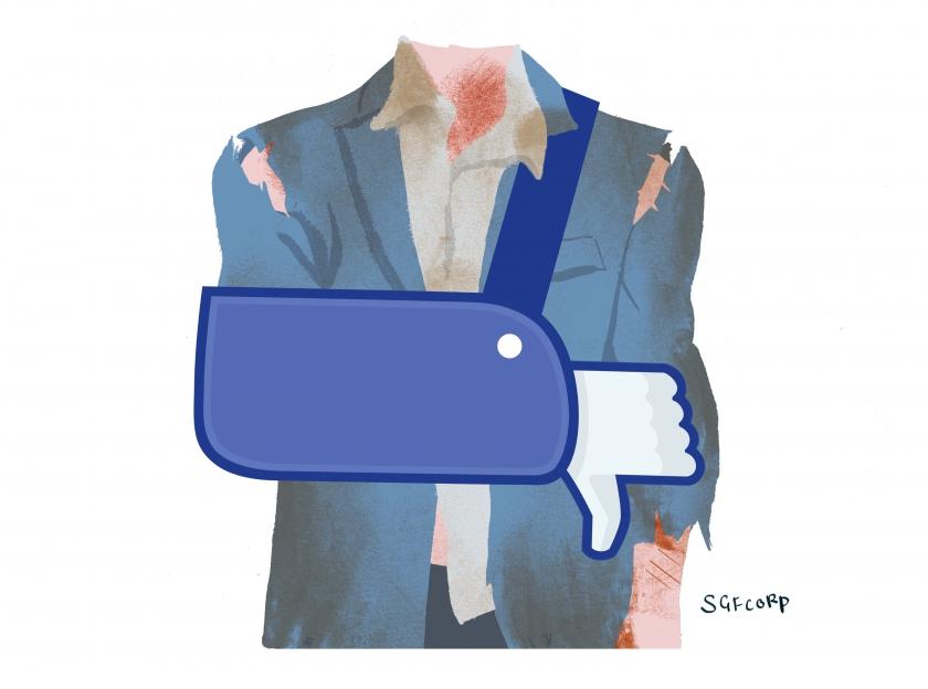 Feedback geven zonder dat de ander boos wordt - illustratie door Simon Spruyt