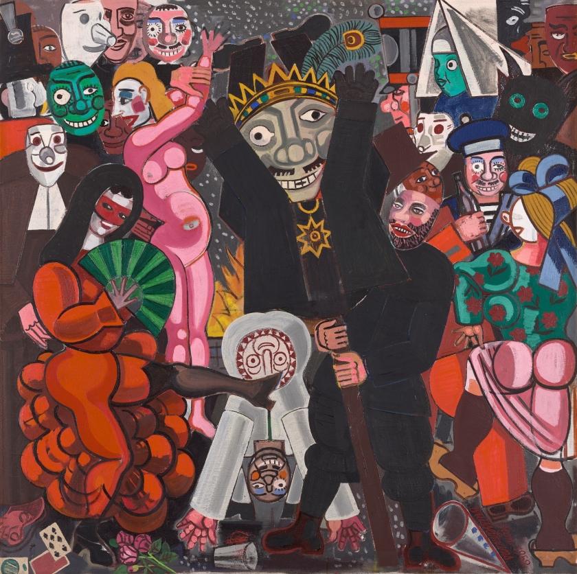 Schilderij Jean Brusselmans, Carnaval, 1952