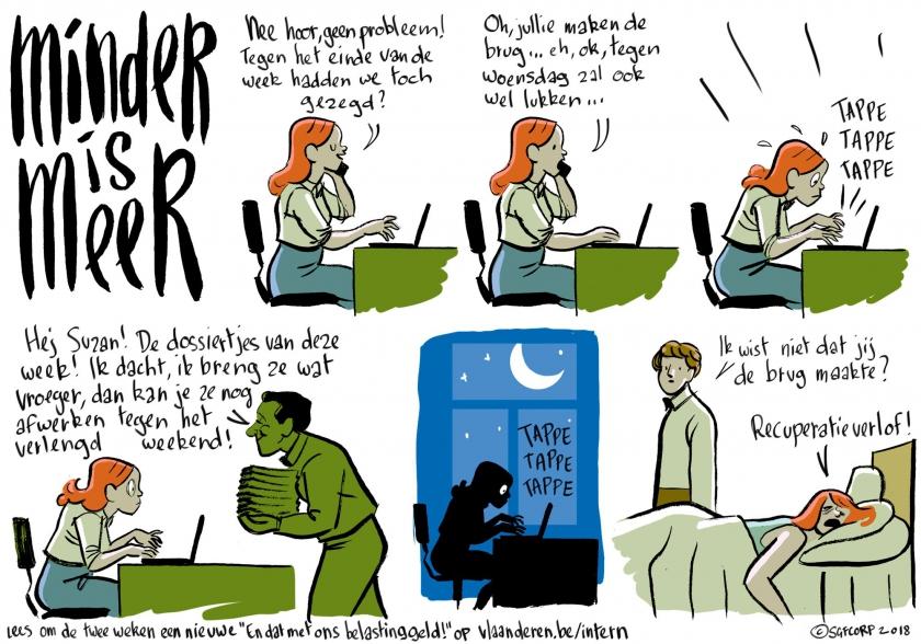 En dat met ons belastinggeld - Minder is meer - strip door Simon Spruyt