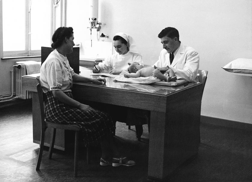Medische zitting in de jaren 1950