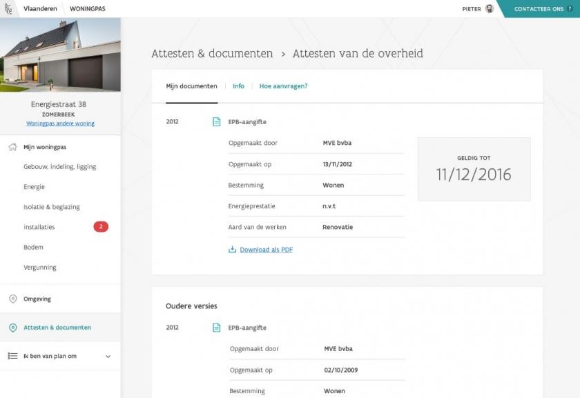 Screenshot site woningpas