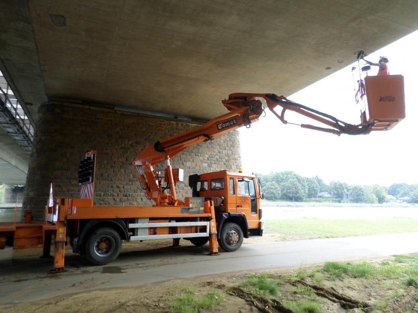 Inspectie van een brug (Foto: Departement MOW)