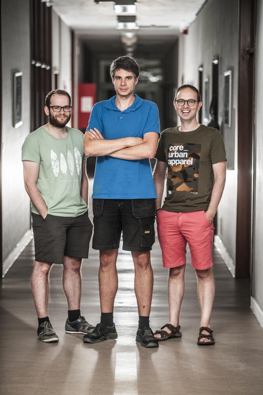 Rik Moelaert en zijn collega's bij Geotechniek (Foto: Departement Mobiliteit en Openbare Werken)