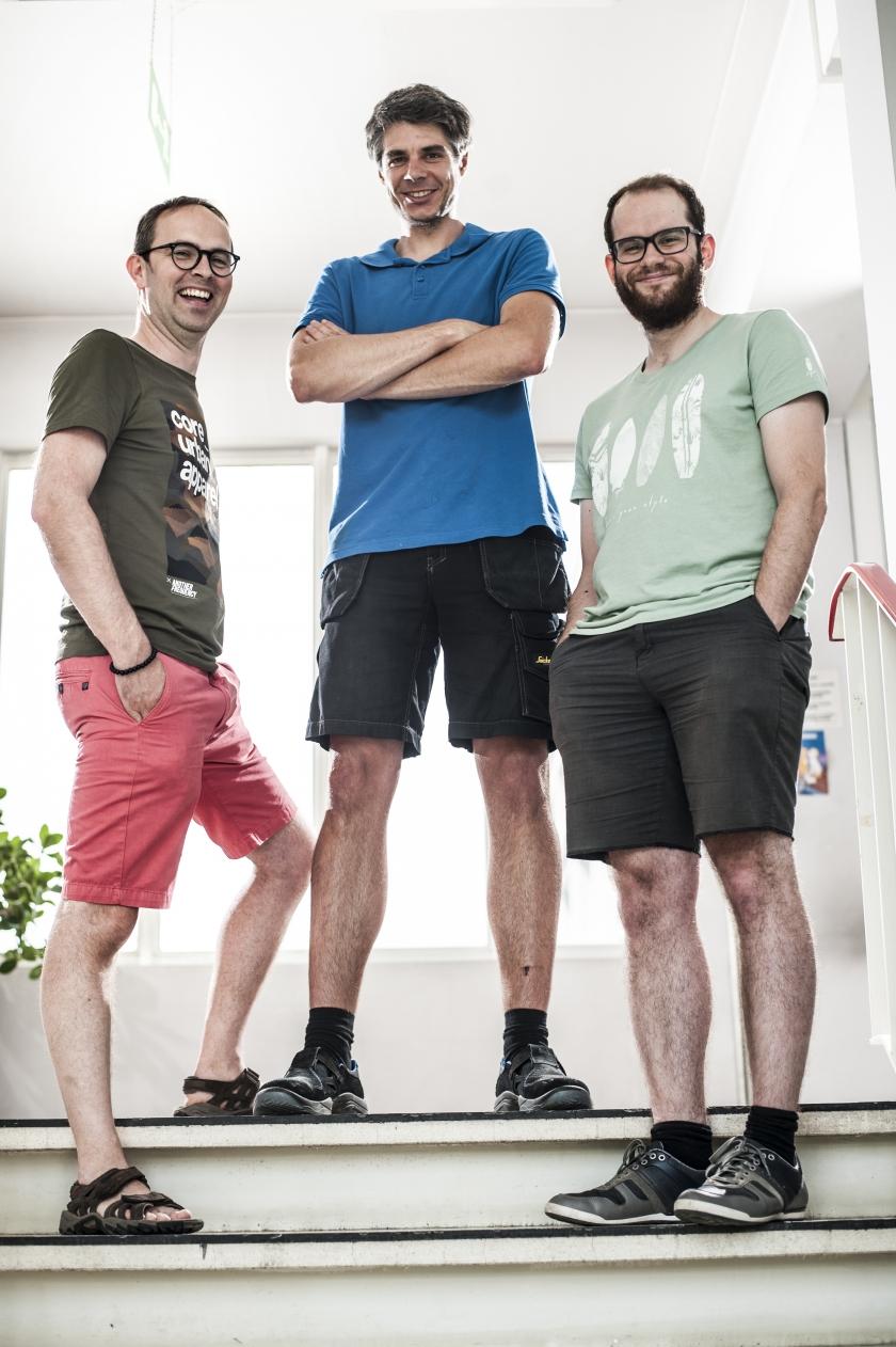 Rik Moelaert (midden) (Foto: Departement Mobiliteit en Openbare Werken)