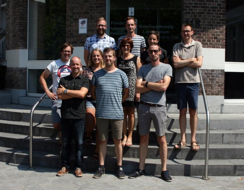 De medewerkers van het Waterbouwkundig Laboratorium