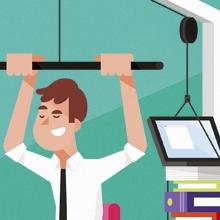 campagnebeeld train je collega in fitnessomgeving