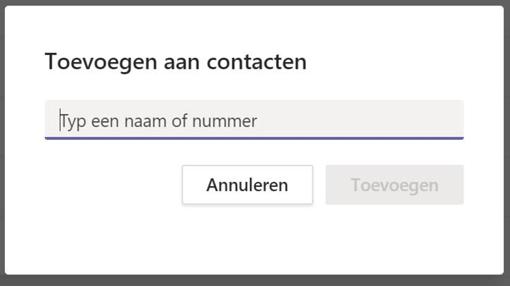 Toevoegen aan contacten