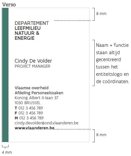 voorbeeld visitekaart niveau 2 achter staand